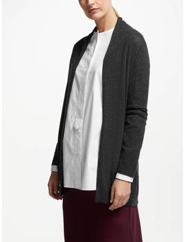 John Lewis & Partners Cashmere Edge To Edge Cardigan, Charcoal by John Lewis & Partners