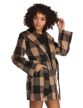 Cuffing Season Plaid Coat by Windsor