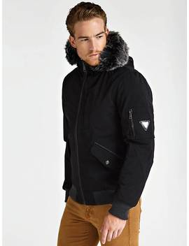 Faux Fur Hood Jacket by Guess