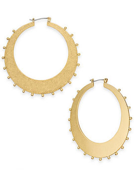 Gold Tone Studded Hoop Earrings by Kate Spade New York