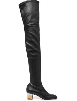 Stretch Leather Over The Knee Boots by Alexander Mc Queen