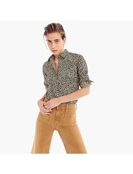 Petite Slim Stretch Perfect Shirt In Leopard Print by J.Crew