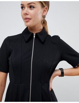 Asos Design Midi Shirt Dress With Exposed Zip by Asos Design