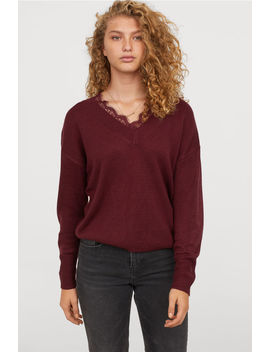 Sweater With Lace by H&M