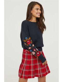 Knitted Sweater With Embroidery by H&M