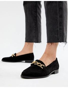 Asos Design   Mighty   Mocassins En Daim Avec Chaîne by Asos Design