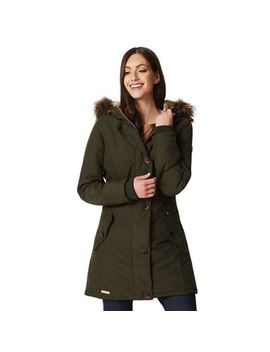 Regatta   Green 'saffira' Waterproof Hooded Parka by Regatta