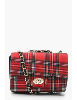 Tartan Check Cross Body by Boohoo