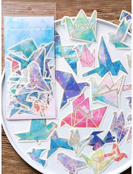 Paper Crane Shaped Sticker 60sheets by Sheinside