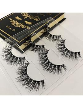 The Book Of Lashes Volume 3: Majestic   Real Mink   Reusable False Eyelashes   Cruelty Free   3 Pairs by The Book Of Lashes