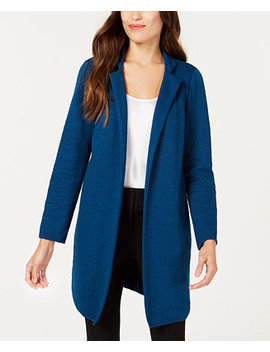 Jacquard Open Front Jacket, Created For Macy's by Alfani