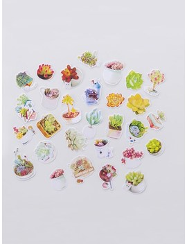 Potted Plant Mini Sticker Set 29pcs by Sheinside