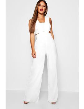 Petite Plunge Jumpsuit by Boohoo
