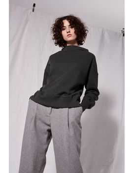**Slash Neck Sweat Top By Boutique by Topshop
