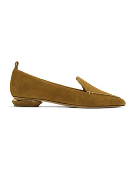 Brown Suede Beya Loafers by Nicholas Kirkwood