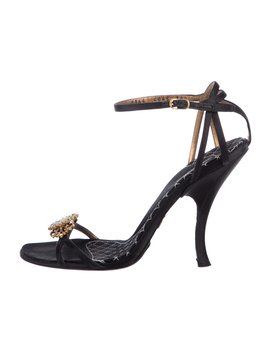 Satin Embellished Sandals by Dolce & Gabbana