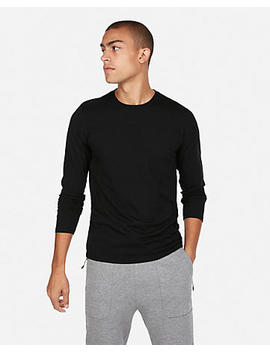 Slim Stretch Long Sleeve Crew Neck Tee by Express