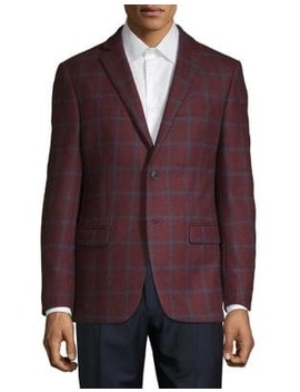 Windowpane Wool Jacket by Michael Michael Kors