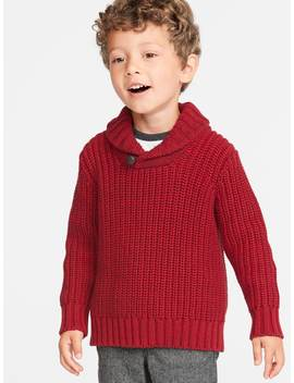 Shawl Collar Sweater For Toddler Boys by Old Navy