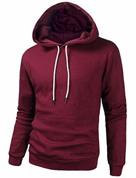 Tov Nine Mens Long Sleeve Pullover Hooded Sweatshirt Slim Fit Lightweight Hoodie by Tov Nine