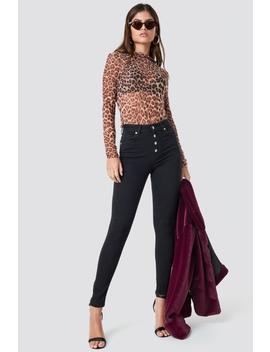 Skinny High Waist Button Zipper Jeans by Na Kd