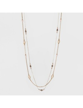 Stones Layered Necklace   A New Day™ Gold by A New Day™