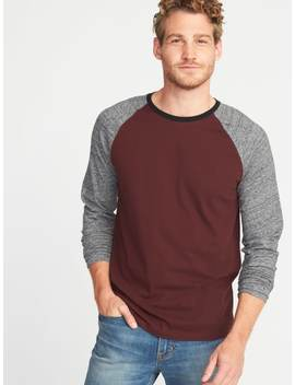 Soft Washed Color Blocked Raglan Tee For Men by Old Navy