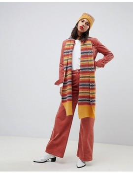 Asos Design Fairisle Knit Wool Mix Long Scarf by Asos Design