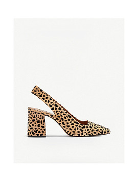 Gainor Leopard Print Leather Courts by Topshop