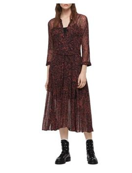 Eley Rosey Floral Print Shirt Dress by Allsaints