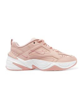 M2 K Tekno Leather And Mesh Sneakers by Nike