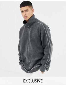 Noak – Grå Oversize Sweatshirt I Fleece Med Kontrasterande Sömmar by Asos