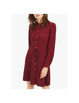 Oasis Skater Shirt Dress, Burgundy by Oasis
