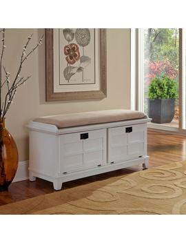 Arts And Crafts White Bench by Home Styles