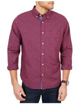 Classic Fit Tiny Plaid Button Down Shirt by Nautica