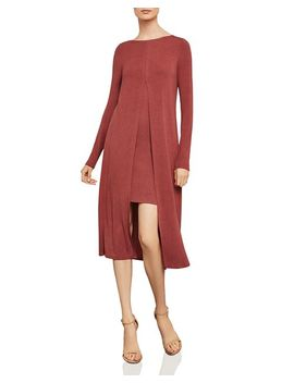 Ayana Split Front Overlay Midi Dress by Bcbgmaxazria