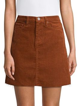 Corduroy A Line Mini Skirt by Blank Nyc