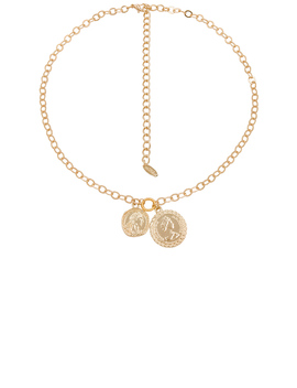 Double Coin Necklace by Ettika