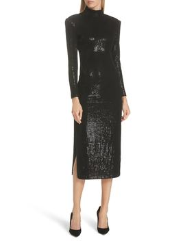 Sequin Midi Sheath Dress by Smythe