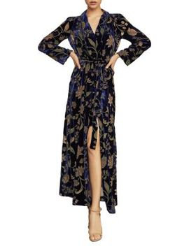 Floral Velvet Burnout Wrap Dress by Bcbgmaxazria