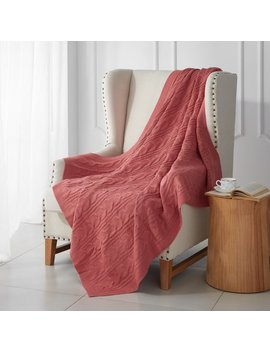 Better Homes & Gardens Coral Cable Knit Throw by Better Homes & Gardens