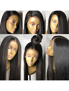 Stylist Lee 360 Wigs Human Hair Pre Plucked 360 Lace Wigs 150 Percents Density Nature Color 360 Wig With Baby Hair Light Yaki Straight 360 Lace Frontal Wig For High Ponytail Updo Any Part Style 16inch by Stylist Lee