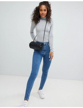 Asos Design Tall Turtle Neck Long Sleeve Top In Grey by Asos Design