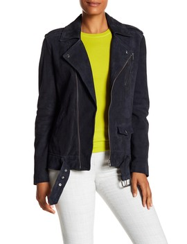 Tralsmin Suede Moto Jacket by Theory