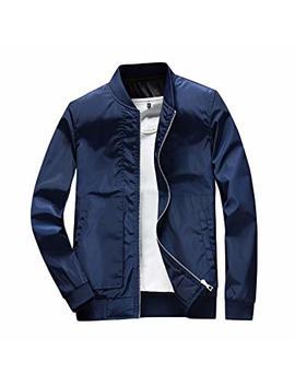 Dingqu Men's Slim Fit Lightweight Sportswear Jacket Casual Bomber Jacket by Dingqu
