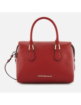Emporio Armani Women's Boston Top Handle Shopper Bag   Red by Emporio Armani