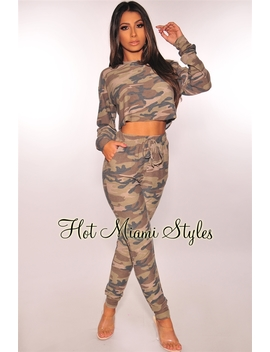 Camo Vintage Jogger Two Piece Set by Hot Miami Style
