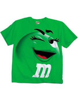 M&M Candy Silly Character Face Adult T Shirt by Food & Beverage