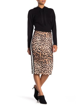 Leopard Print Pencil Skirt by Nicole Miller