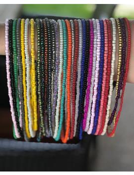 "Seed Bead Choker 13"" Multiple Colors Beaded Choker Beaded Necklace Gifts Under 10 Choker Under 10 Custom Choker Custom Necklace by Etsy"
